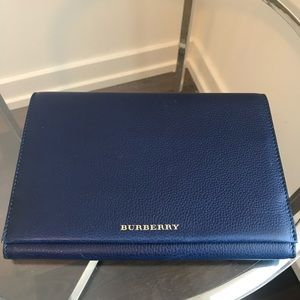 Burberry pebble leather clutch or document holder